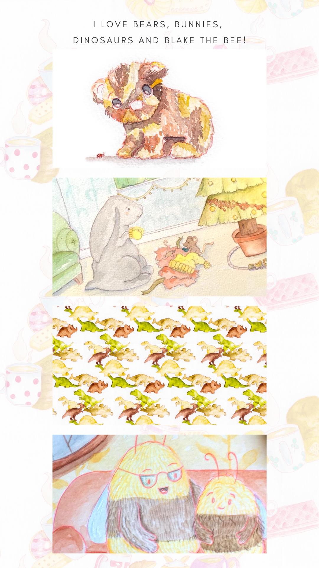 i love bears, bunnies, dinosaurs and blake the bee!-2